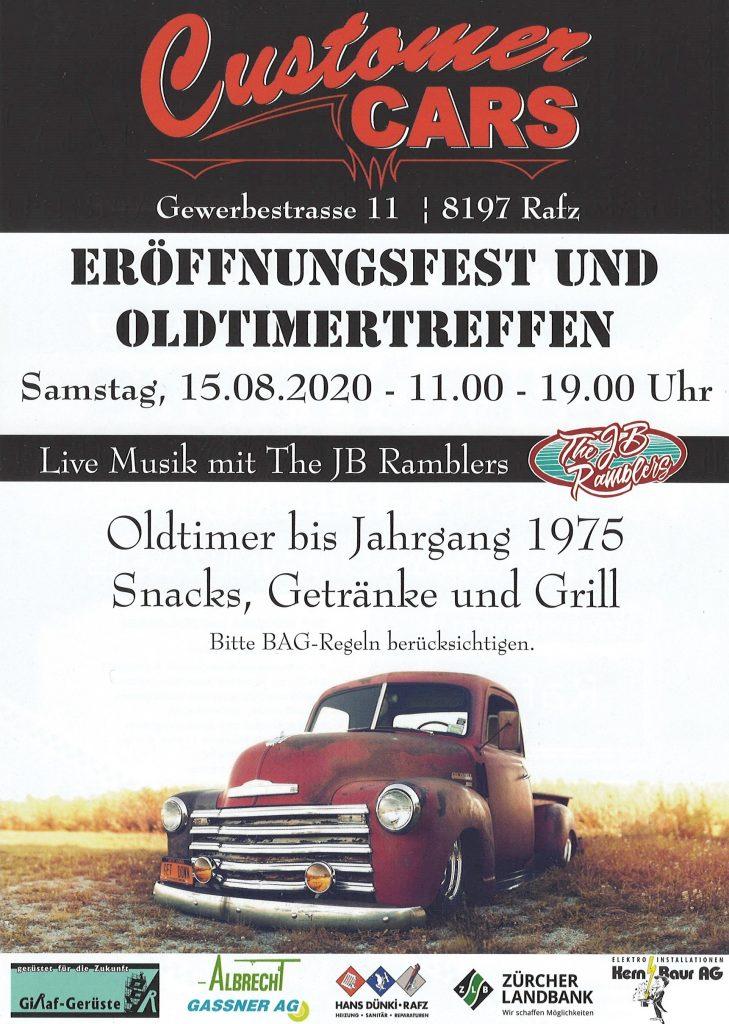 Customer CarsEröffnungsfest und Oldtimertreffen 2020